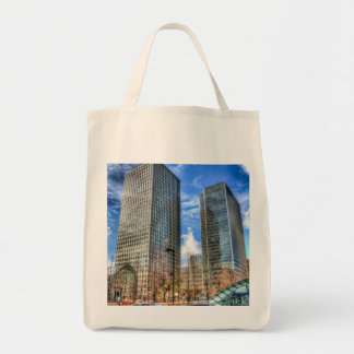 Taxis at Canary Wharf Tote Bag
