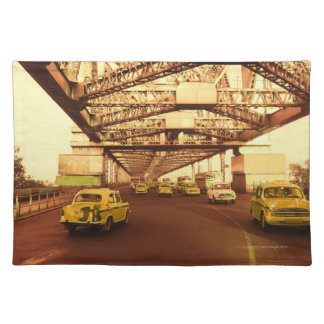 Taxi's on a Bridge Placemat
