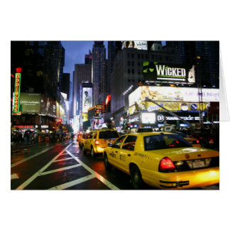 Taxis on Broadway Greeting Cards