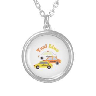 Taxis_Taxi_Line Round Pendant Necklace