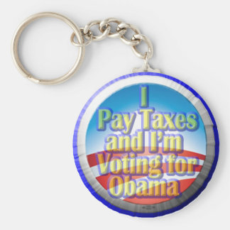 Taxpayers for Obama Basic Round Button Key Ring