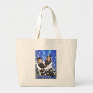 Tay and Daddy, Best Friends Jumbo Tote Bag