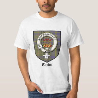 Taylor Clan Crest Badge Tartan T-Shirt
