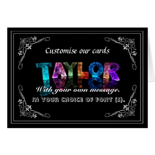 Taylor -  Name in Lights greeting card (Photo)
