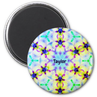 TAYLOR ~ Personalized Easter Pattern Fractal ~ Magnet