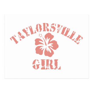 Taylorsville Pink Girl Postcard