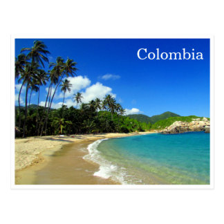tayrona tropical beach postcard