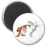 TAZ™ and BUGS BUNNY™ 6 Cm Round Magnet