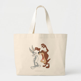 TAZ™ and BUGS BUNNY™ Not Even Flinching - Color Large Tote Bag