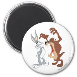 TAZ™ and BUGS BUNNY™ Not Even Flinching - Colour 6 Cm Round Magnet