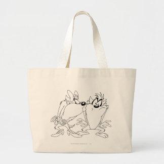 TAZ™ and Girl Large Tote Bag