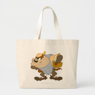 TAZ™ at the Catcher's Mound 2 Large Tote Bag