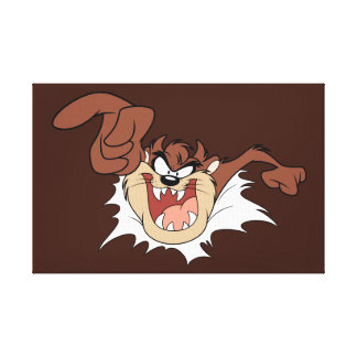 TAZ™ Bursting Through Page Canvas Print