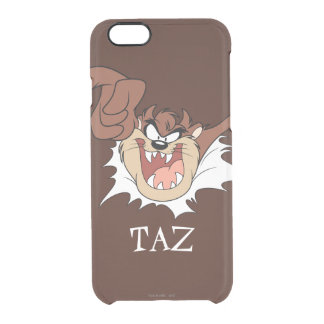 TAZ™ Bursting Through Page Clear iPhone 6/6S Case