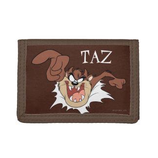 TAZ™ Bursting Through Page Tri-fold Wallets