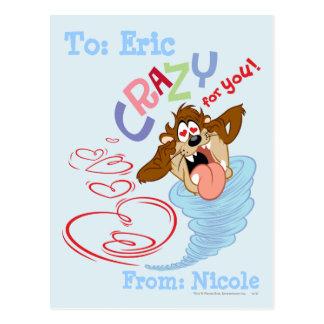 TAZ™ Crazy for you! Postcard