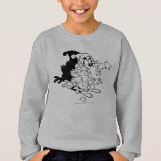 TAZ™ eating Christmas tree Sweatshirt