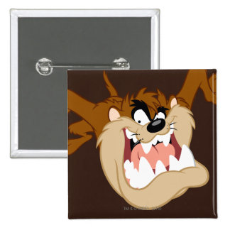 TAZ™ Evil Grin 15 Cm Square Badge