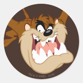 TAZ™ Evil Grin Classic Round Sticker