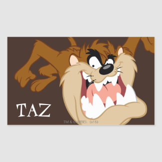 TAZ™ Evil Grin Rectangular Sticker