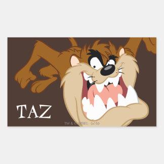 TAZ™ Evil Grin Rectangular Sticker