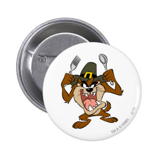 TAZ™ Hungry 6 Cm Round Badge