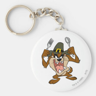 TAZ™ Hungry Basic Round Button Key Ring