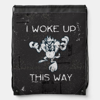TAZ™ I Woke Up This Way Drawstring Bag