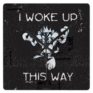 TAZ™ I Woke Up This Way Square Wall Clock