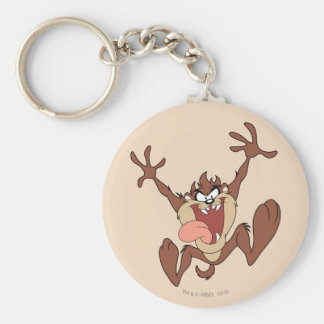 TAZ™ Leaping Basic Round Button Key Ring