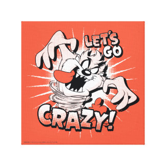 "TAZ™ ""Let's Go Crazy!"" Halftone Canvas Print"