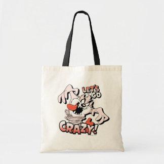 """TAZ™ """"Let's Go Crazy!"""" Halftone Tote Bag"""