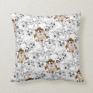 TAZ™ Line Art Color Pop Pattern Cushion
