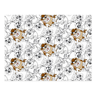 TAZ™ Line Art Color Pop Pattern Postcard