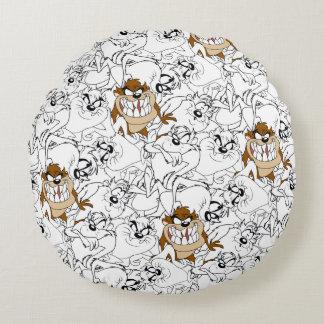 TAZ™ Line Art Color Pop Pattern Round Cushion