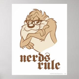 Taz - Nerds Rule Poster