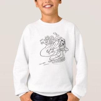 TAZ™ on sled with bag of toys Sweatshirt