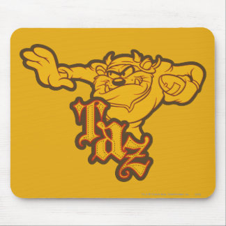 Taz One Arm Stuff Mouse Pads