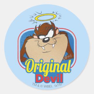 TAZ™ Original Devil Classic Round Sticker