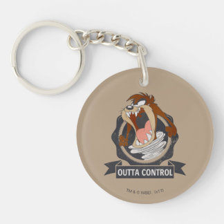 TAZ™ Outta Control Double-Sided Round Acrylic Key Ring