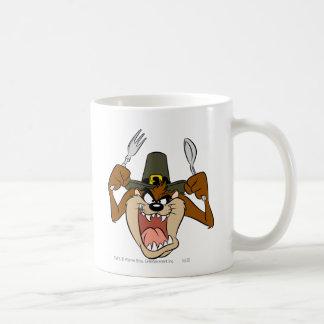 TAZ™ Pilgrim Thanksgiving in Color Basic White Mug