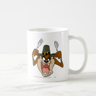 TAZ™ Pilgrim Thanksgiving in Color Coffee Mug
