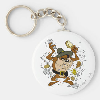 TAZ™ Plowing Down Basic Round Button Key Ring