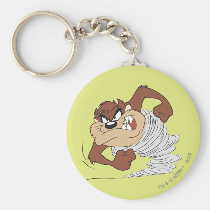 TAZ™ spinning fast Basic Round Button Key Ring