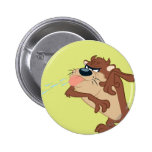 TAZ™ sticking out his tongue 6 Cm Round Badge