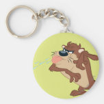 TAZ™ sticking out his tongue Basic Round Button Key Ring