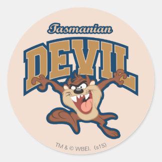 TAZ™ Tasmanian Devil Patch Classic Round Sticker