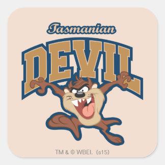 TAZ™ Tasmanian Devil Patch Square Sticker
