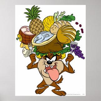 TAZ™ Thanksgiving Feast B/W 2 Poster