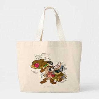 TAZ™ Thanksgiving Plates Large Tote Bag